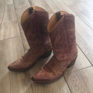 Sundance Leather Cowgirl Boots